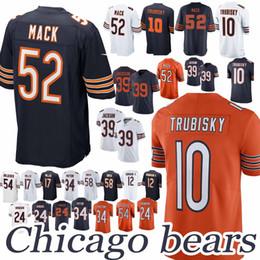 bears 52 Khalil Mack 10 Mitchell Trubisky 39 Eddie Jackson Roquan 58 Smith  men football jerseys 83f0b8d64