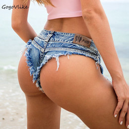 $enCountryForm.capitalKeyWord Australia - Pole Dance Shorts 5 Colors Sexy Tassel Thong Barwear Women Jeans Denim Micro Ultra Low Rise Waist Clubwear Cortos Mujer Dk039s20 Q190509