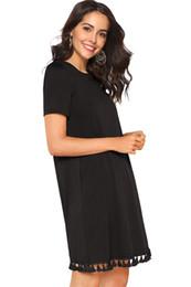 dd1b0df3f5ae Plain knee length dress online shopping - Women s Summer Plain Short Sleeve  casual dresses Pocket