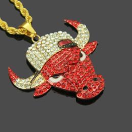 $enCountryForm.capitalKeyWord Australia - Domineering Designer Necklace Luxury Rhinestone Mens Necklace Personality Bull Head Iced Out Pendant Punk Hip Hop Jewelry Hot Sale