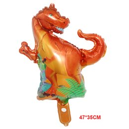 aluminium balloon stick Australia - Dinosaur Foil Balloon Happy Birthday Paper Banner For Jurassic Dino World Decorations Jungle Party Supplies Boys Toy