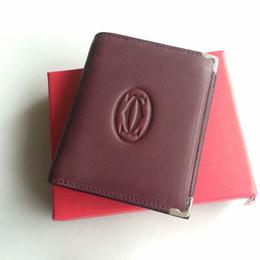 Vintage trunk purse online shopping - Genuine Leather Wallet Vintage wind red Men s purse Cards Holder Soft Leather men purses Short Men Wallet W4361