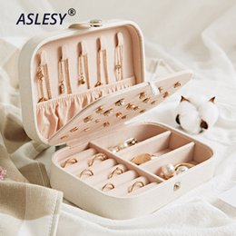 $enCountryForm.capitalKeyWord Australia - Portable Travel Jewelry Leather Boxes Three Layers Necklace Earring Storage Organizer Cosmetics Beauty Accessories Case Display J190718
