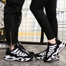 Tennis Shoes Springs Australia - Spring 2019 sneakers men's and women's casual shoes breathable mesh shoes air cushion running tennis volleyball shoes student size 5.5-12n18