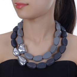 $enCountryForm.capitalKeyWord Australia - Jerolli Handmade Ccb Bohemia Ethnic Necklace Pendant Multi Layer Beads Jewelry Vintage Statement Necklace Women Wood Jewelry J190711