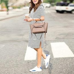 b1d8b97847219d Summer Striped Dress Plus Size Dresses For Women 4xl 5xl Womens Big Size  Casual Work Office Wear Loose Short Sleeve Hoodies Y19051001
