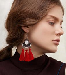 $enCountryForm.capitalKeyWord Australia - Vintage women earrings dangle pearl drop pendant earrings summer round hanging crystal earring for women gift