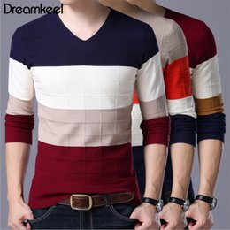 $enCountryForm.capitalKeyWord Australia - Men's Sweater Autumn Casual O-Neck Striped Slim Fit Knittwear Clothes Sweaters Pullovers Pullover Men Pull Homme Full Y