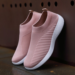 $enCountryForm.capitalKeyWord Australia - 1Big Size 35-43 Women Casual Knitting Sock Shoes Stretch Flat Platform Ladies Slip On Shoes Woman Vulcanized Sneakers Zapatillas