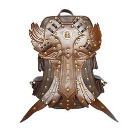$enCountryForm.capitalKeyWord UK - Steampunk Women Backpack Gothic Retro Rock bag Good Quality PU Leather Vintage Bag 2019 Halloween day