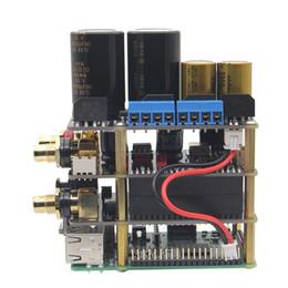 Toptan satış Freeshiping Ahududu Pi X20 Hifi Ses Kiti (X20 ES9028Q2M DAC Kurulu / X10-I2S Kurulu / X10-PWR Güç Kaynağı Kurulu / X10-HPAMP Amplifikatör (KitB))