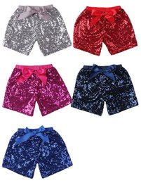 $enCountryForm.capitalKeyWord NZ - Baby Girls Sequins Shorts Pants Casual Pants Fashion Infant Glitter Bling Dance Boutique Bow Princess Shorts Kids Clothes 11 color DHL FJ463