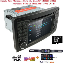 mercedes benz maps NZ - 2Din Car DVD Player For Mercedes Benz ML Class W164 GL350 X164 ML320 GPS Navigation Radio Stereo BT DAB+ DTV SWC CAM MAP SD TPMS