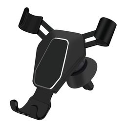 air vent cell phone holder 2020 - Car Gravity cell Phone KickStand Universal Air Vent Mount Clip Phone Holder for Smartphone Car Triangle Mobile Phone Hol