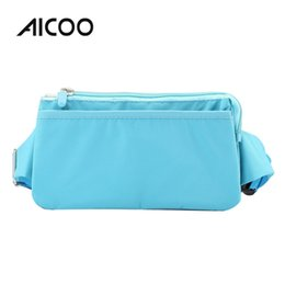 Phone oPP bag online shopping - AICOO Multi function Mobile Phone Universal Bag Inch Layer Waist Package Zipper Nylon Running Dance Bag OPP Bag