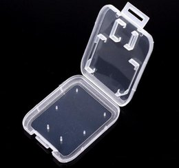 plastic cases for sd memory cards Australia - 1000pcs lot Transparent Clear Standard SD SDHC Memory Card Case Holder Box Storage Carry Storage Box for SD TF Card SN367