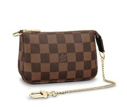 Wholesale MINI POCHETTE ACCESSOIRES N58009 NEW WOMEN FASHION SHOWS EXOTIC LEATHER BAGS ICONIC BAGS CLUTCHES EVENING CHAIN WALLETS PURSE