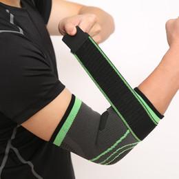 Elastic Elbow Brace Australia - 1PCS Elbow Support Elastic Gym Sport Protective Pad Absorb Sweat Sport Basketball Volleyball Bandage Adjustable Elbow Brace