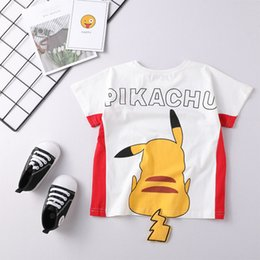 $enCountryForm.capitalKeyWord NZ - Kids t-shirt ins round neck short-sleeved cartoon Pikachu image round neck summer cute tide children's T-shirt