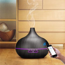 remote oil Australia - 550ml WiFi Ultrasonic Humidifier Phone Control Essential Oil Aroma Diffuser Remote Control Air Humidifier Purifier Mist Maker 31 Y200416