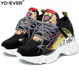 Chunky Sneakers Australia - Plus Size 42 Women's Chunky Street Sneakers Knit Women Platform Increased Shoe 2019 Breath Woman Trainers Lady Footwear #78