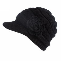 e9ac518b481c6 2018 Hot Sale High Quality Women Ladies Winter Knitting Hat Berets Turban  Brim Hat Cap Pile CapDropship 171108