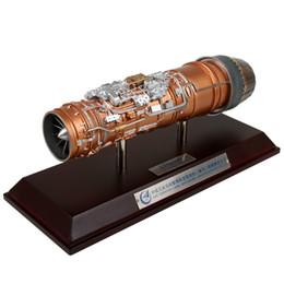 Ingrosso Il motore turbofan del modello Space serie 1:20 10 in lega militare modello di simulazione ornamenti collezione limitata di prodotti