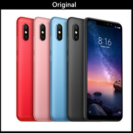 "19 Touch Screen NZ - Original Xiaomi Redmi 6 Pro Mobile Phone 3 4GB 32GB RAM ROM Snapdragon 625 Octa Core 5.84"" 19:9 Full Screen Dual AI Camera 4000mAh"