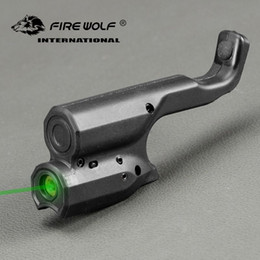 Pistol lasers sights online shopping - Tactical Green Laser Sight Scope For Black Color Pistol Laser For Hunting Shooting FIRE WOLF