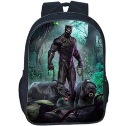 school picture UK - Panthera backpack Black Panther daypack T Challa hero film schoolbag Hot picture print rucksack Sport school bag Outdoor day pack