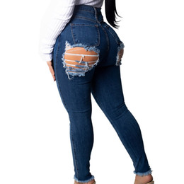 5cc96e97709 Discount jeans for skinny legs - Sexy Butt Ripped Jeans For Women Destroyed  Back Hole Jeans