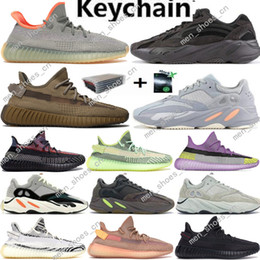 earth magnets NZ - 2020 New Kanye West Cinder Earth 700 Desert Sage Running Shoes Magnet Yecheil Hospital Blue cloud White Black Reflective Sports Sneakers