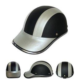 $enCountryForm.capitalKeyWord Australia - Leather Motorcycle Half Face Helmet Baseball Cap for Bike Motorbike Electric Car TD326