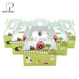 $enCountryForm.capitalKeyWord Australia - 24pcs lot Candy Box Cake Box For Kids Farm Animals Pig Cow Sheep Theme Party Baby Shower Party Decoration Party Favor Supplies J190723