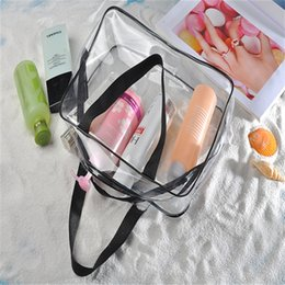 Clear pvC CosmetiC makeup bag online shopping - PVC Bags Transparent Travel Organizer Clear Makeup Bag Beautician Cosmetic Bag Beauty Case Toiletry Make Up Pouch Wash Bags