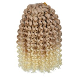 $enCountryForm.capitalKeyWord UK - Mali Bob Ombre Color 6pcs 8Inch Synthetic Marlybob Crochet Braids Hair Marly Braids Jumbo Braids Hair Extension