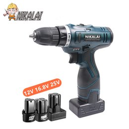 can wrench Australia - 12v 16.8v electric drill 25V cordless drill driver wrench electricical screwdriver can choose suitcase box Woodworking tools