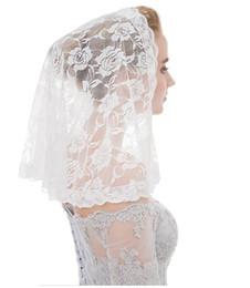 Black Veils Australia - Bridal lace headband Muslim tiara veil short yarn shawl single layer cover veil