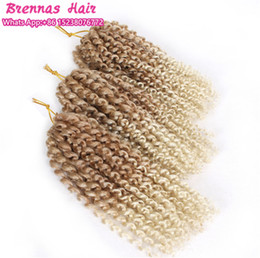 $enCountryForm.capitalKeyWord Australia - Ombre blonde short maley MALI BOB 8INCH MARLYBOB KINKY CURLY HAIR SYNTHETIC BARIDING KANEKALON crochet braids 6lots for one hea hooks gift
