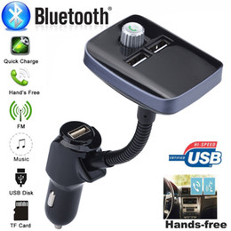 $enCountryForm.capitalKeyWord NZ - FM Transmitter FM Modulator Quick Charge 3.0 Charger Handsfree Car Kit MP3 Playe Built-in tow USB ports Support TF card music #D