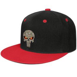 Skull Cap Ball Australia - Camo punisher skull Unisex Man Hats Women's Hat Adjustable Cotton Snapback Flatbrim Top Hat Ball Caps for Men