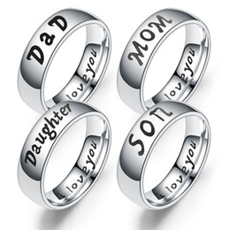 $enCountryForm.capitalKeyWord Australia - Stainless Steel I Love you designer Ring I love You Dad Mom Son Daughter Ring Bang Family member letter Rings Fashion Jewelry drop ship