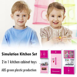 $enCountryForm.capitalKeyWord Australia - Kids Pretend Play Simulation Kitchen Set Children Pretend Play Cooking Cabinet Tools for Girl Cooking Method Closet Toy