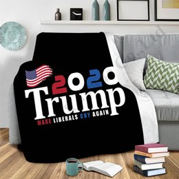 free beds Canada - Trump 2020 Print Blankets Double Layers Winter Thicken Blanket President Election Carpet Throw Bed Sofa Shawl Adults Kids Cloak Cape A112702