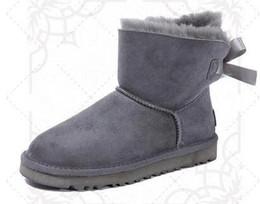 Blue Snow Boots Australia - 2019 new shishangchaoj Australia Classic snow Boots High Quality women winter boots fashion Ankle Boots black grey navy blue Khaki size 5-13