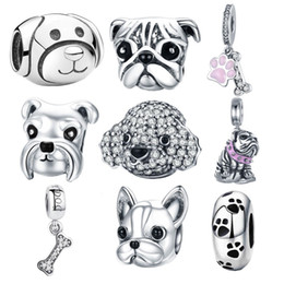 Story Charms Australia - 925 Sterling Silver A Dog 's Story Poodle Puppy French Bulldog Beads Charm Fit BISAER Charms Silver 925 Original Bracelet