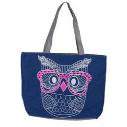 Owl Ladies Handbag Australia - Cheap Women Handbag Tote Bag Top-handle Lady Owl Shopping Shoulder Canvas Bag Casual Tote Purse Package Gift Drop Ship #Y