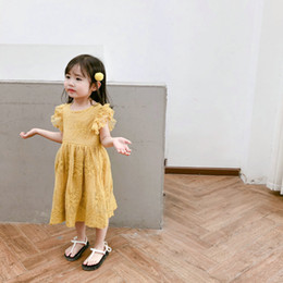 Discount clothes for bears - Bear Leader Girls Dress 2019 New Summer Brand Girls Clothes Lace And Ball Design Baby Girls Dress Party Dress For 3-7 Ye