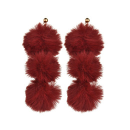 $enCountryForm.capitalKeyWord UK - 2019 Fashion Cotton Ball Comfortable Boho Stud Earrings For Women Wedding Party Gift Statement Long Earring E1889