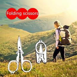 Discount high carbon steel scissors - Household Scissors Home Portable Folding High carbon steel Scissors Mini Folding Scissors Travel Trip Tool Travel Scisso